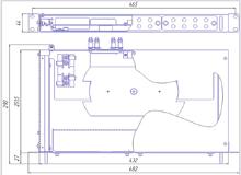 Габаритный чертеж кросса R590