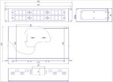 Габаритный чертеж кросса R 538 2U