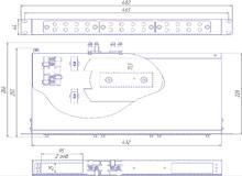 Габаритный чертеж кросса R 589 1U