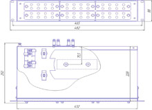 Габаритный чертеж кросса R 589 2U